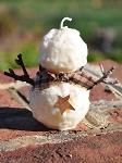 Rustic Snowman Candle