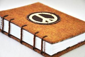 Vintage Peace Sign Journal